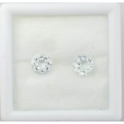 Colorado Aquamarine Pair- Round Cut 3.42TCW