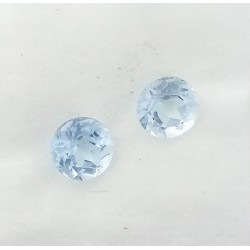 Colorado Aquamarine Pair- Round Cut 3.58TCW